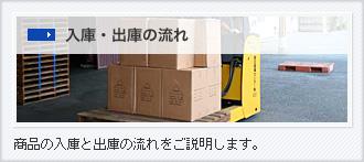 入庫・出庫の流れ|商品の入庫と出庫の流れをご説明します。